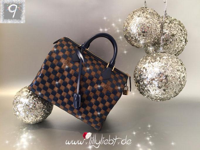 Louis Vuitton Damier Paillettes Speedy 30 in Blau