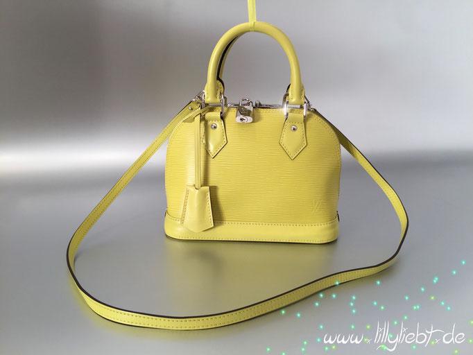 Louis Vuitton Epi Alma BB in Pistache