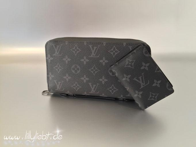 Louis Vuitton Monogram Eclipse Zippy XL & Taschenorganizer