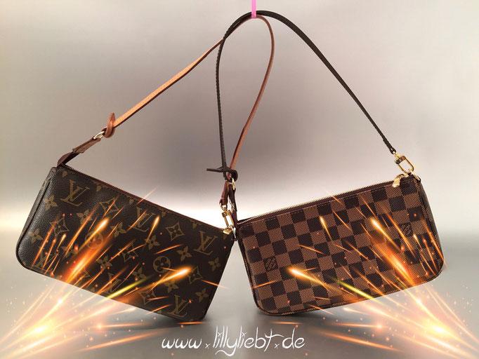 Louis Vuitton Monogram Canvas & Damier Ebene Pochette Accessoires NM