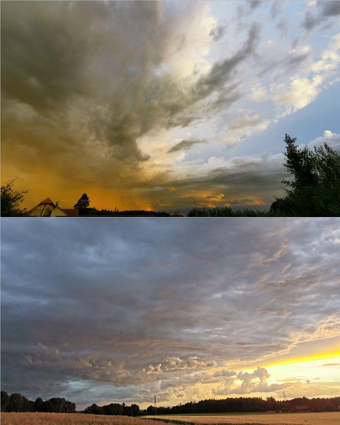 Sonnenuntergang Farbenspiel am Himmel