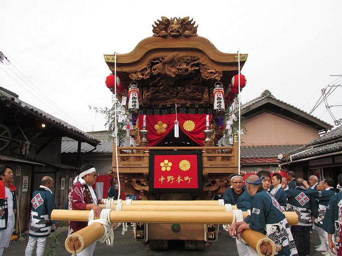 中野本町地車の出発