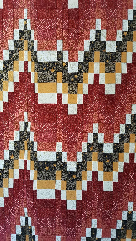 Bargello Wandbild, 85 cm hoch, 55 cm breit - Bargello ist auch eine Streifentechnik