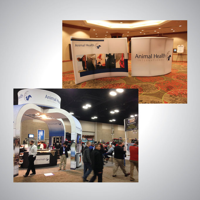 Complete branding for 1600 employee company - Trade show banners, materials, and signage