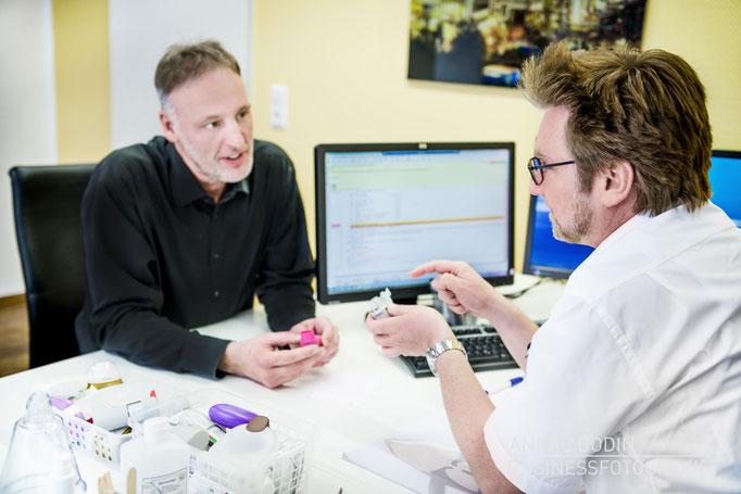 Businessfotografie: Praxisfotosfotos, Imagefotos und Detailaufnahmen für die Webseite eines Pneumologen