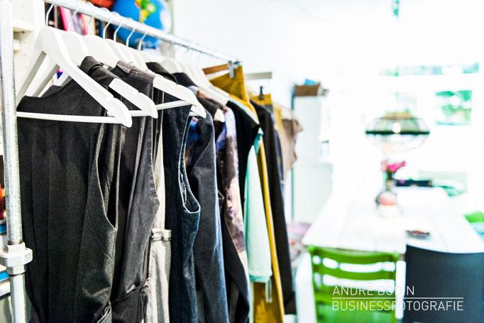 Businessfotografie: Unternehmensfotos und Detailaufnahmen einer Modedesignerin für ein Magazin und Eigenwerbung