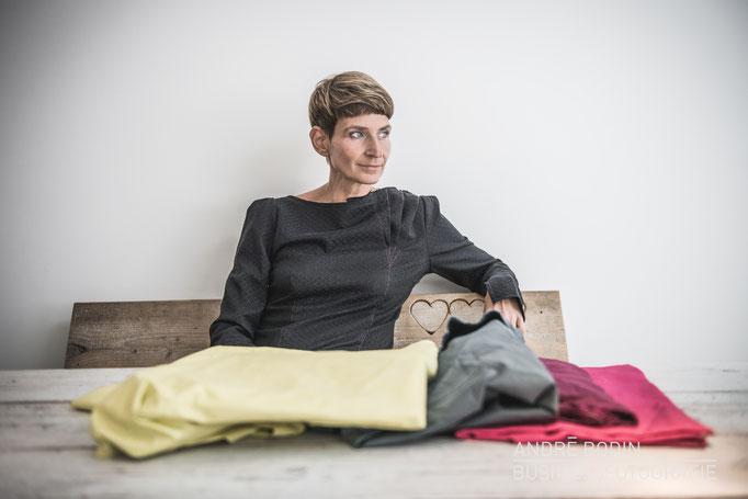 Businessfotografie: Geschäftsführerportrait bzw Charakterportraits einer Modedesignerin für ein Magazin