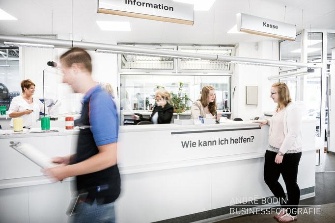 Werbefotografie: Unternehmensfotos und Imageaufnahmen für die Webseite eines Autohändlers