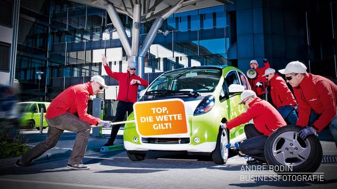 Werbefotografie: Teamfotos bzw Imagefotos für den Geschäftsbericht eines Energieversorgers