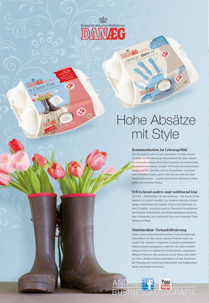 Werbefotografie: Produktfotos für Anzeigen und Broschüren eines Lebensmittelherstellers