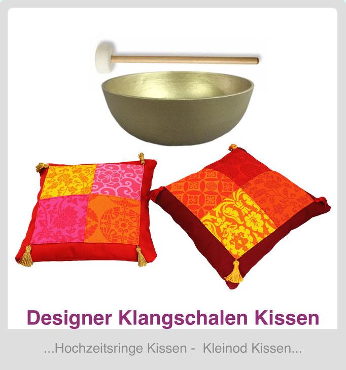 Designer Klangschalenkissen
