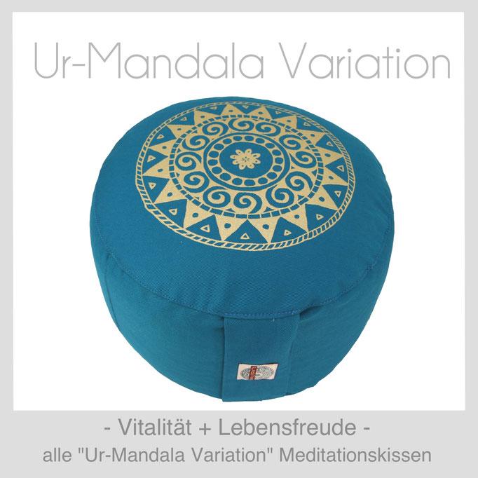 Designer Meditationskissen Gr. M Schneidersitz Kniesitz Ur-Mandala Variation