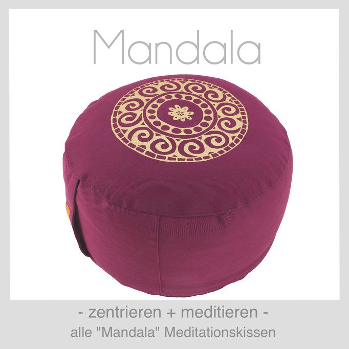 Designer Meditationskissen Gr. M Schneidersitz Kniesitz Mandala