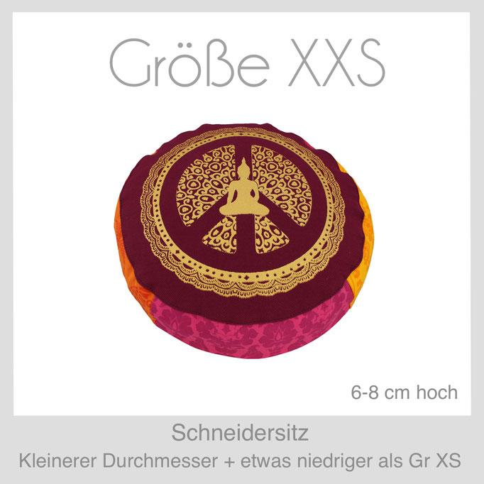 Designer Meditationskissen Yogakissen Gr.XXS Schneidersitz Lotussitz