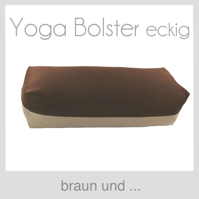 Yoga Bolster eckig Köln braun +