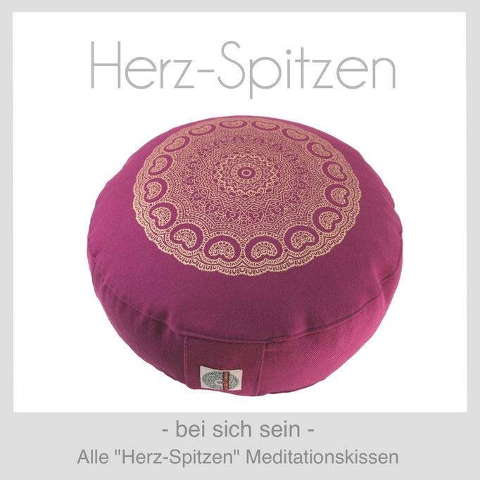 """Designer Meditationskissen """"Herz-Spitzen"""""""