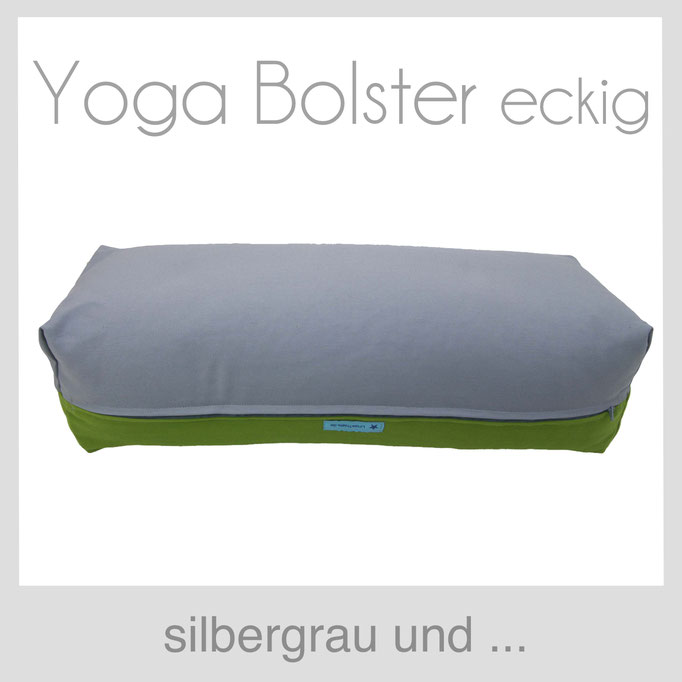 Yoga Bolster eckig Köln silbergrau +