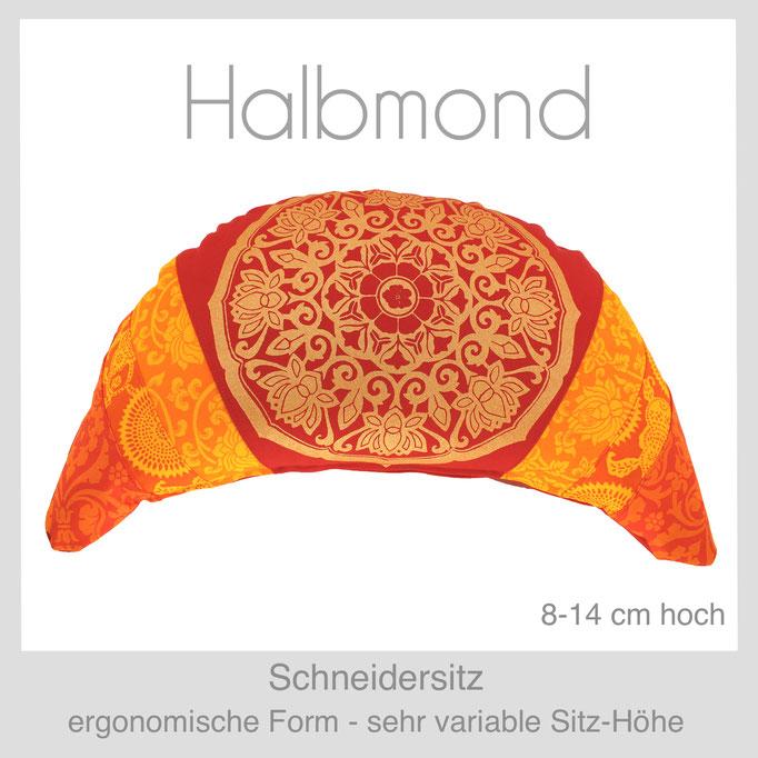 Designer Meditationskissen Gr. Halbmond