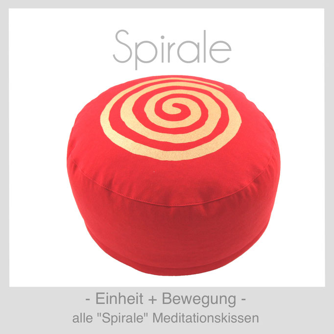 Designer Meditationskissen Gr. M Schneidersitz Kniesitz Spirale