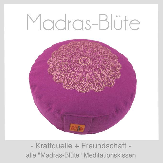"""Designer Meditationskissen """"Madras-Blüte"""""""