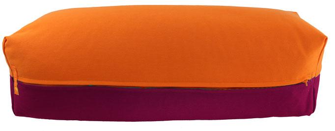 Yoga Bolster eckig Köln orange + aubergine