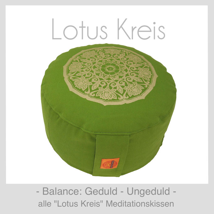 Designer Meditationskissen Gr. M Schneidersitz Kniesitz Lotus Kreis