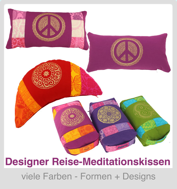 Designer Yoga Reisekissen - 3 Formen