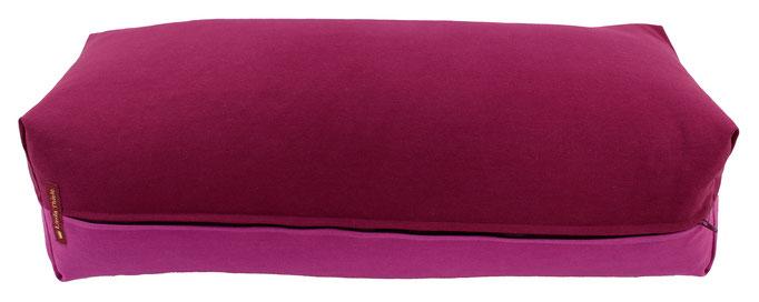 Yoga Bolster eckig Köln aubergine + rotviolett