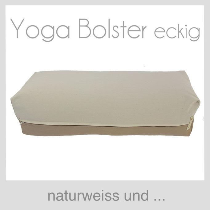 Yoga Bolster eckig Köln naturweiß +