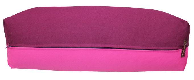 Yoga Bolster eckig Köln aubergine + pink