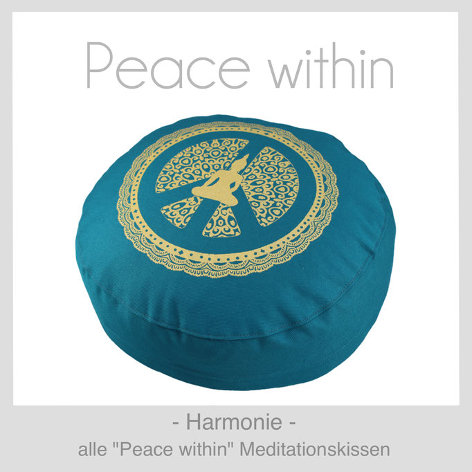 "Designer Meditationskissen ""Peace within"""