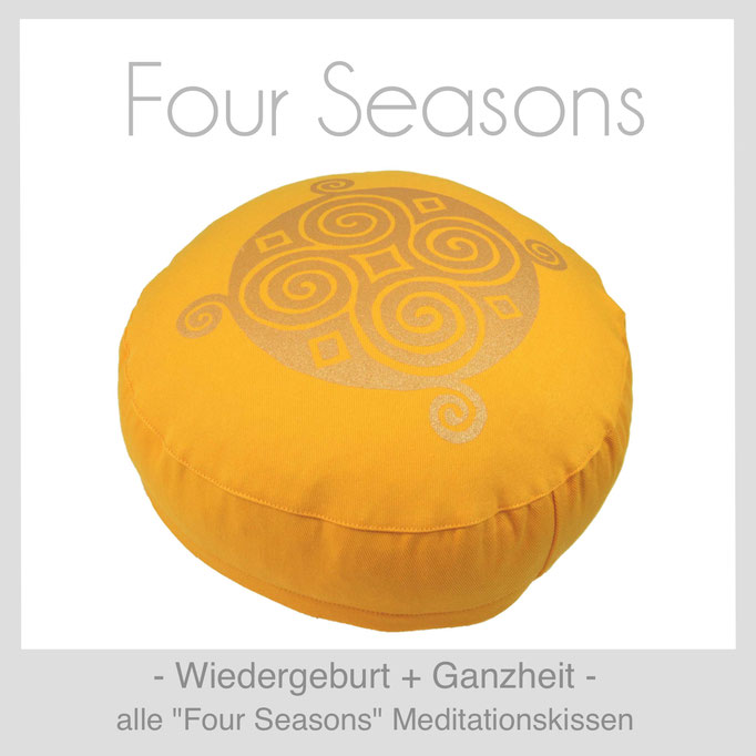 "Designer Meditationskissen ""Four Seasons"""