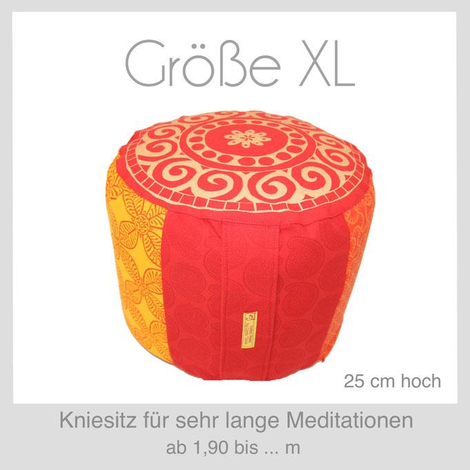 Designer Meditationskissen Yogakissen Gr.XL  Kniesitz Burmesischer Sitz
