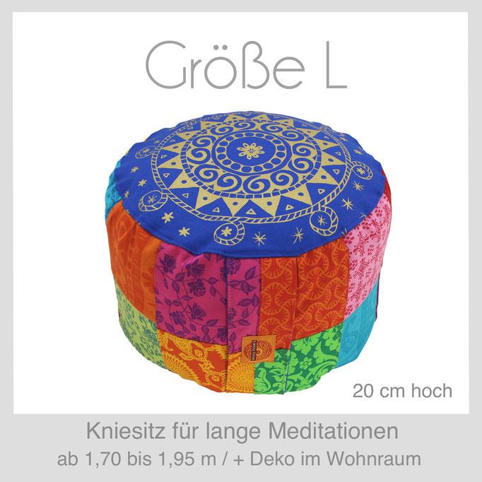 Designer Meditationskissen Yogakissen Gr.L  Kniesitz Burmesischer Sitz