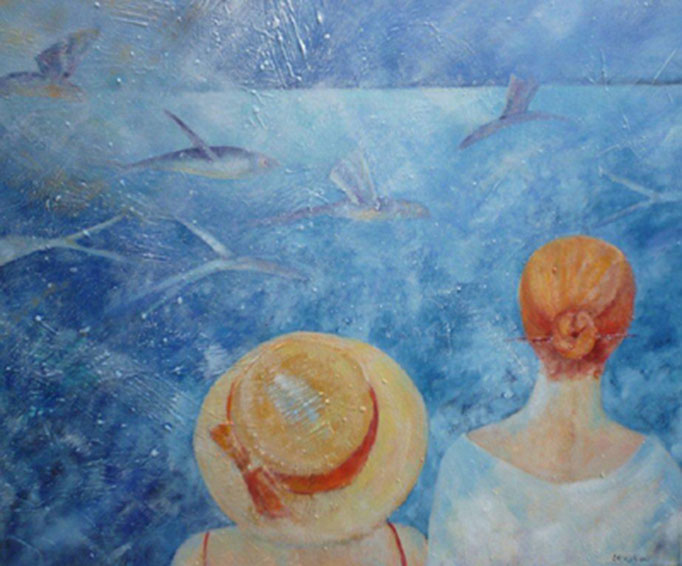 Fliegende Fische | Mixed Media | 100 x 80 cm | 2013