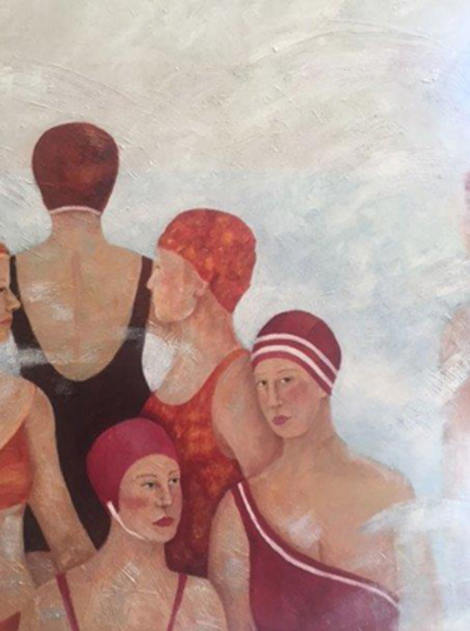 Badenixen | Öl auf Leinwand | 100 x 120 cm | 2016