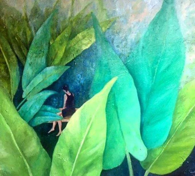 Im Versteck | Mixed Media auf Leinwand | 70 x 70 cm | 2016
