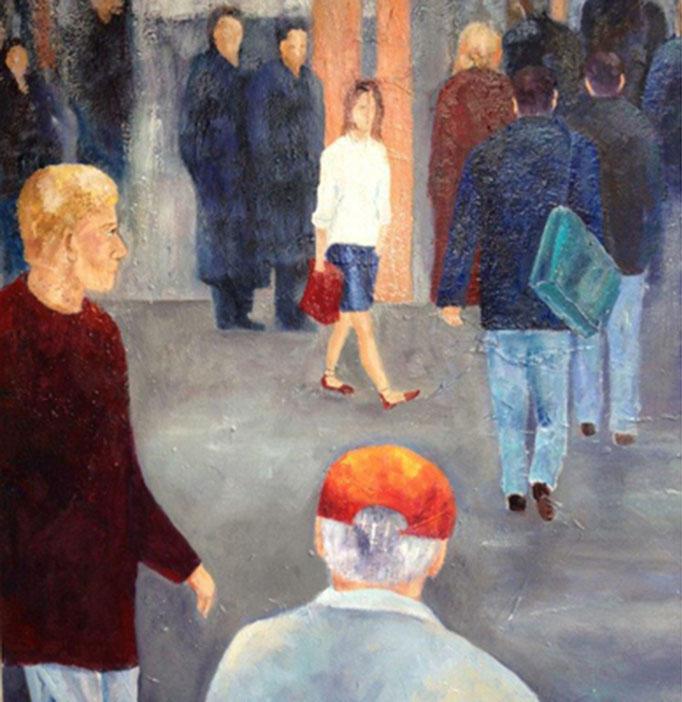 Blickwinkel I | Mixed Media auf Leinwand | 60 x 80 cm | 2016