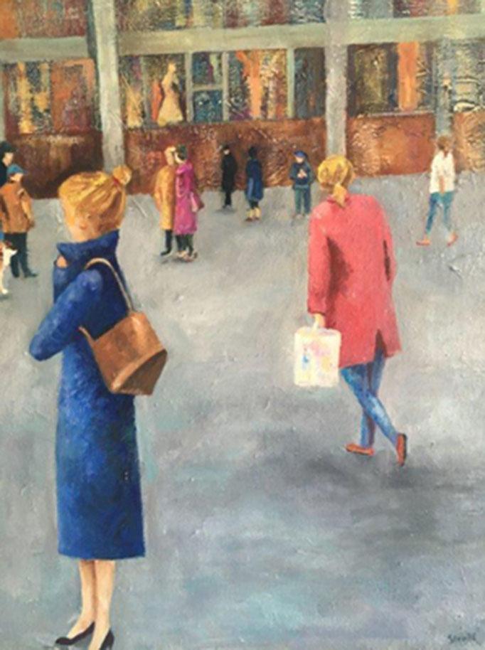 Warten | Mixed Media auf Leinwand | 50 x 70 cm | 2016