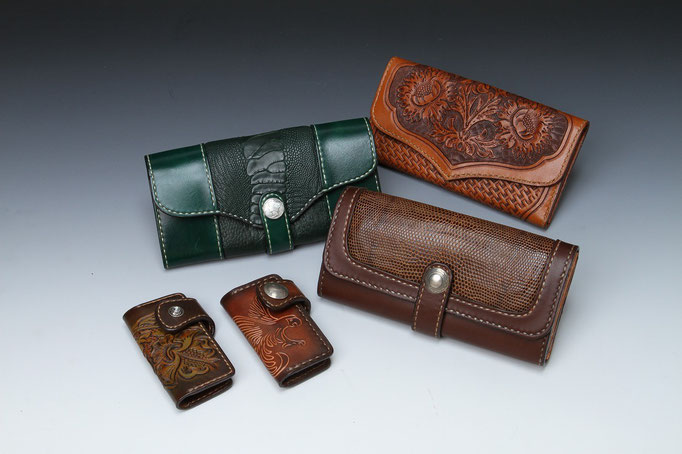 長財布、キーケース