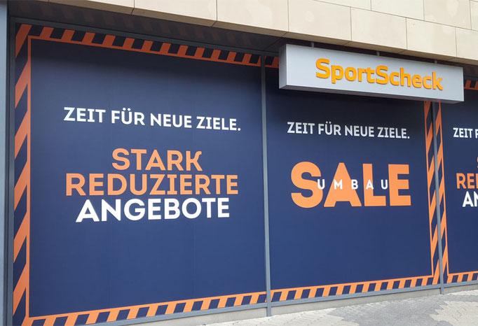 SALE Schaufensterbeklebung SportScheck Nürnberg