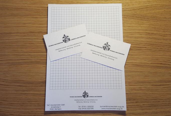DIN A5 Blöcke und Visitenkarten für Mackenstein