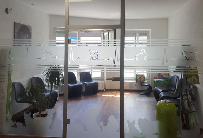 Sicht- und Auflaufschutz für Glaswand und -tür