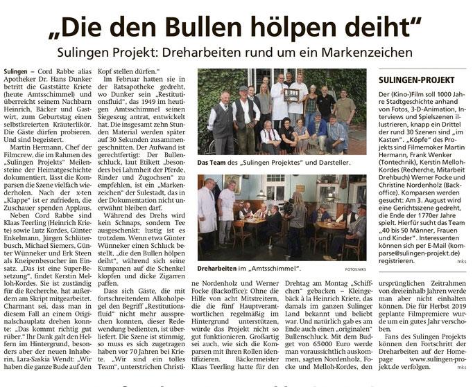 Sulingen Kreiszeitung 03.07.2019