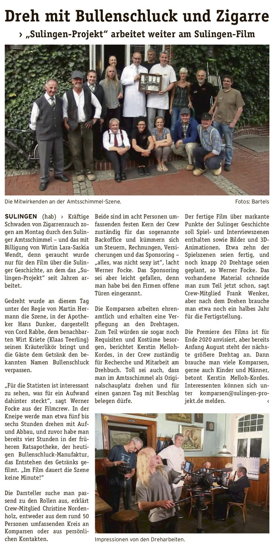 Wochenpost 03.07.2019