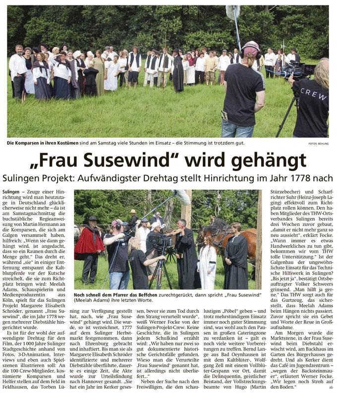 Sulingen Kreiszeitung, 05.08.2019