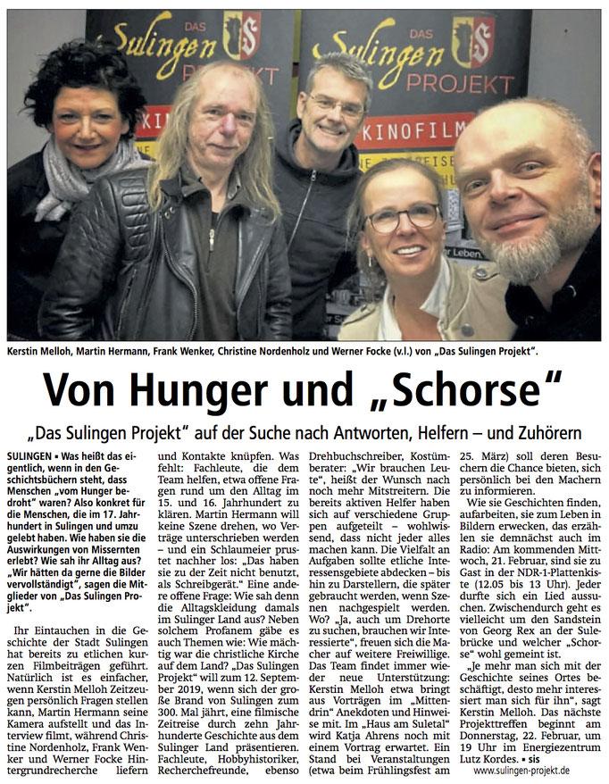 Sulingen Kreiszeitung, 19.02.2018