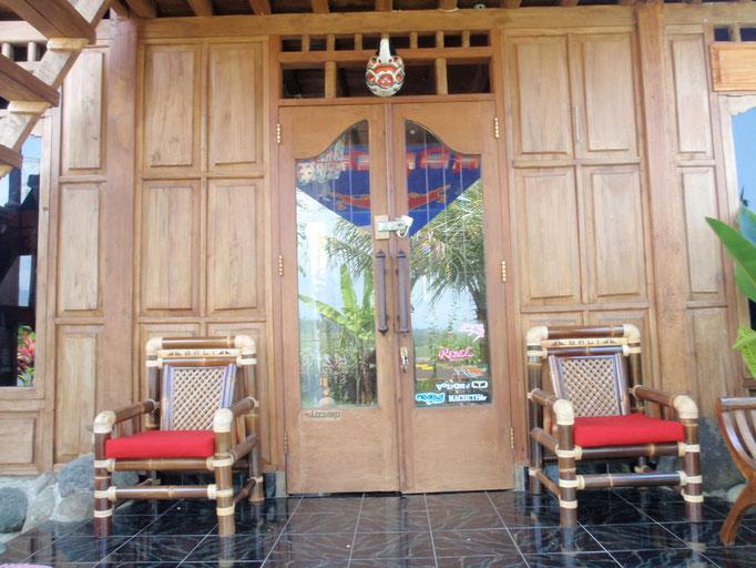 Terasse vom Bungalow Bali