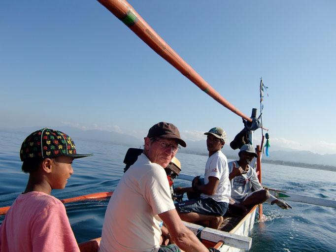 Fischen in Medewi Bali