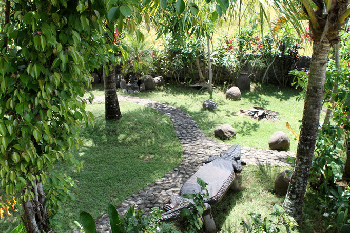 Garten Bungalow auf Bali
